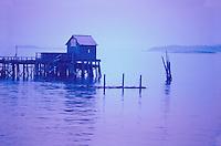 blue, pier, ME, Maine,