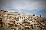 The Jewish cemetery on the mount of olives in Jerusalem Sunday, April 13 2014. Photo by Eyal Warshavsky
