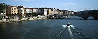 Europe/France/Rhône-Alpes/69/Rhone/Lyon: Quais de Saone et Pont Bonaparte