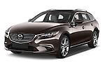 2015 Mazda Mazda 6 Skycruse 5 Door Wagon Angular Front stock photos of front three quarter view