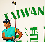 Yani Tseng of Taiwan tees off on the 14th hole during day one of the Sunrise LPGA Taiwan Championship 2011 at the Sunrise Golf & Country Club on 20 October 2011 in Tao Yuan, Taiwan. Photo by Victor Fraile / The Power of Sport Images