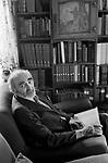 Derek Neville author poet mystic at home in Norfolk, 1974  England UK
