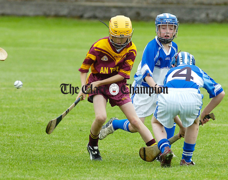 Parteen and Tulla in action in the Lenmac hurling finals in Kilkishen.Pic Arthur Ellis.