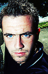 15th aug 2003, JAMES MCFADDEN PORTRAIT AT THE STABLES KIRKINTILLOCH, ROB CASEY PHOTOGRAPHY.