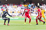 Salem Alajalin of Jordan (C) in action during the AFC Asian Cup UAE 2019 Group B match between Australia (AUS) and Jordan (JOR) at Hazza Bin Zayed Stadium on 06 January 2019 in Al Ain, United Arab Emirates. Photo by Marcio Rodrigo Machado / Power Sport Images