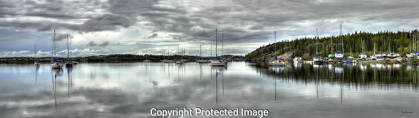 Calm morning in Yellowknife's Back Bay. Original file size 91 MB.