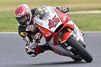 October 27, 2018: Tetsuta Nagashima (JAP) on the No.45 KALEX from Idemitsu Honda Team Asia during the Moto2 practice session three at the 2018 MotoGP of Australia at Phillip Island Grand Prix Circuit, Victoria, Australia. Photo Sydney Low