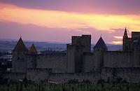 Europe/France/Languedoc-Roussillon/11/Aude/Carcassonne: La cité au soleil couchant