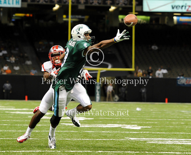 Tulane vs. Rutgers, 2012 Football Season Opener at the Mercedes-Benz Superdome in New Orleans.  Rutgers went on to defeat Tulane, 24-12.