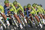 Liquigas-Cannondale team including Peter Sagan (SVK) in action during the 2nd Stage of the 2012 Tour of Qatar an 11.3km team time trial at Lusail Circuit, Doha, Qatar. 6th February 2012.<br /> (Photo Eoin Clarke/Newsfile)