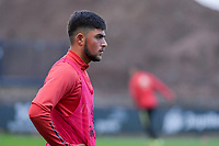 Ahmad Sameer Habibzai (8) of Belgium pictured before a soccer game between the national teams Under17 Youth teams of Belgium and Luxemburg in the Qualifying round in group 3 on wednesday 6 th of October 2020  in Tubize , Belgium . PHOTO SPORTPIX | STIJN AUDOOREN