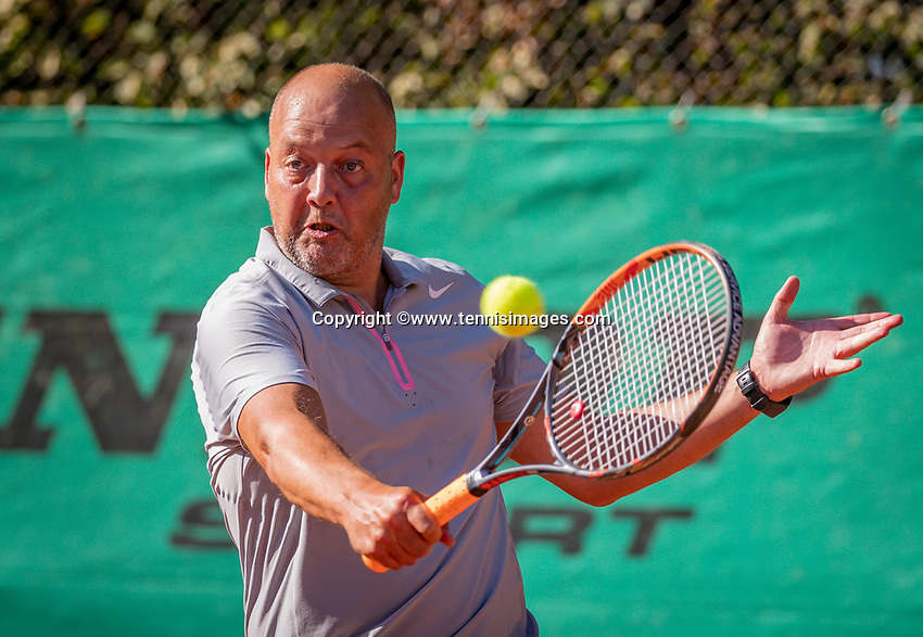 Hilversum, The Netherlands,  August 18, 2020,  Tulip Tennis Center, NKS, National Senior Championships, Men's single 45 + ,   Chris Joosten (NED) <br /> Photo: www.tennisimages.com/Henk Koster