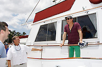 Actors from Y&R, Days and General Hospital donated their time to Southwest Florida 16th Annual SOAPFEST and during the weekend took a break to chill on one of the boats to see dolphins and to swim off Marco Island, Florida on May 23, 2015 - a celebrity weekend May 22 thru May 25, 2015 benefitting the Arts for Kids and children with special needs and ITC - Island Theatre Co.  (Photos by Sue Coflin/Max Photos)