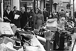 """""""Winter of Discontent"""" London. Rubbish piles up in the streets of the west end London. Bin men strike 1978."""