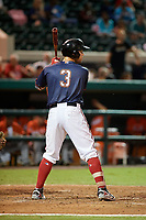 Florida Fire Frogs Braxton Davidson (3) bats during the Florida State League All-Star Game on June 17, 2017 at Joker Marchant Stadium in Lakeland, Florida.  FSL North All-Stars defeated the FSL South All-Stars  5-2.  (Mike Janes/Four Seam Images)