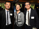 From left: Horacio Licon, Robanne Ogden and Julius Svoboda at the World Energy Cities Partnership reception at the Hotel ZaZa Tuesday May 1,2012. (Dave Rossman Photo)