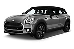 2018 Mini Clubman Cooper Kensington 5 Door Wagon angular front stock photos of front three quarter view