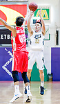 Ling Kwan Lung #22 of Eagle Basketball Team tries to score against the Nam Ching during the Hong Kong Basketball League game between Eagle and Nam Ching at Southorn Stadium on June 22, 2018 in Hong Kong. Photo by Yu Chun Christopher Wong / Power Sport Images