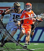 23 August 2008: Philadelphia Barrage Attackman Ryan Boyle in action against the Rochester Rattlers during the Semi-Finals of the Major League Lacrosse Championship Weekend at Harvard Stadium in Boston, MA. The Rattlers defeated the Barrage 16-15 in sudden death overtime, advancing to the upcoming Championship Game...Mandatory Photo Credit: Ed Wolfstein Photo