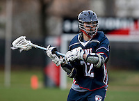 Tim Schwalje (22) of Penn looks to take a shot while playing Maryland at Ludwig Field in College Park, Maryland.