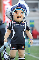 Big Chief, the Exeter Chiefs club mascot, during the LV= Cup match between Exeter Chiefs and Bath Rugby at Sandy Park Stadium on Sunday 5th February 2012 (Photo by Rob Munro)