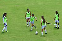 MEDELLÍN - COLOMBIA, 17-10-2020: Deportivo Independiente Medellín y Real San Andrés en partido por la fecha 1 de la Liga Femenina BetPlay DIMAYOR 2020 jugado en el estadio Metropolitano de Itaguí. / Deportivo Independiente Medellin and Real San Andres in match for the date 1 as a part of Women's BetPlay DIMAYOR League 2020 played at Metropolitano de Itagui stadium in Itagui. Photo: VizzorImage / Luis Benavides / Cont