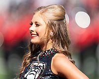 ATHENS, GA - OCTOBER 12: Georgia cheerleader during a game between University of South Carolina Gamecocks and University of Georgia Bulldogs at Sanford Stadium on October 12, 2019 in Athens, Georgia.