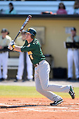 Siena Saints outfielder Vincent Citro (6) during a game against the Central Florida Knights at Jay Bergman Field on February 16, 2014 in Orlando, Florida.  UCF defeated Siena 9-6.  (Copyright Mike Janes Photography)