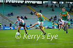 Adrian Spillane, Kerry in action against Sean Kelly, Galway during the Allianz Football League Division 1 South Round 1 match between Kerry and Galway at Austin Stack Park in Tralee.