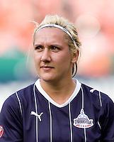 Lisa DeVanna. The Washington Freedom defeated the Saint Louis Athletica, 3-1.