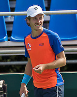 Moscow, Russia, 13 th July, 2016, Tennis,  Davis Cup Russia-Netherlands, Training Dutch team, Wesley Koolhof (NED)<br /> Photo: Henk Koster/tennisimages.com