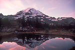 Mount Rainier National Park, reflecting tarn, Mount Rainier, Washington State, Pacific Northwest, U.S.A.,