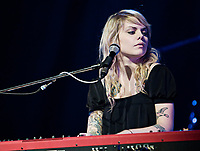 Singer Beatrice Martin, commonly known as Coeur de Pirate, sings and plays piano during her show at Le Capitole de Quebec in Quebec City February 17, 2009.