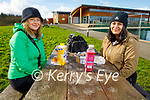Enjoying their picnic in the Tralee Bay Wetlands on Tuesday, l to r: Cassidy Raniowski and Lovepree Giddha.