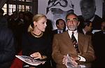 VITTORIO GASSMAN CON VIRNA LISI - PREMIO NASTRI D'ARGENTO GNAM ROMA 1990