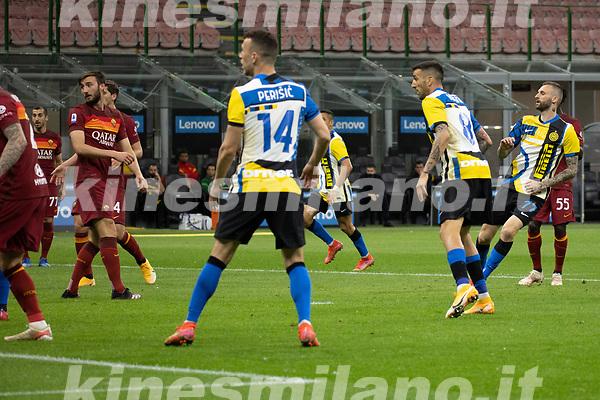 inter-roma - milano 12 maggio 2021 - 36° giornata Campionato Serie A - nella foto: brozovic marcelo gol 1-0