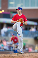Buffalo Bisons relief pitcher Matt Dermody (50) in action against the Durham Bulls at Durham Bulls Athletic Park on April 30, 2017 in Durham, North Carolina.  The Bisons defeated the Bulls 6-1.  (Brian Westerholt/Four Seam Images)