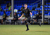 LAKE BUENA VISTA, FL - JULY 18: Tristan Blackmon 27 of LAFC receives a pass off his chest during a game between Los Angeles Galaxy and Los Angeles FC at ESPN Wide World of Sports on July 18, 2020 in Lake Buena Vista, Florida.
