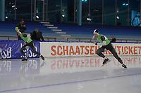 SCHAATSEN: HEERENVEEN: 21-12-2019, IJsstadion Thialf, KNSB trainingswedstrijd, Michel en Ronald Mulder, ©foto Martin de Jong