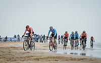 Pim Ronhaar (NED/Pauwels Sauzen-Bingoal) on his way to a rainbow jersey racing alongside the North Sea<br /> <br /> UCI 2021 Cyclocross World Championships - Ostend, Belgium<br /> <br /> U23 Men's Race<br /> <br /> ©kramon