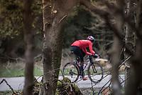 Team Lotto-Soudal during their Liège-Bastogne-Liège 2017 recon<br /> <br /> 103rd Liège-Bastogne-Liège 2017 (1.UWT)<br /> One Day Race: Liège › Ans (258km)