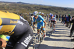 Sep Vanmarcke (BEL) Lotto NL-Jumbo and Vincenzo Nibali (ITA) Astana climb Sector 7 Monte Sante Maria of gravel during the 2015 Strade Bianche Eroica Pro cycle race 200km over the white gravel roads from San Gimignano to Siena, Tuscany, Italy. 7th March 2015<br /> Photo: Eoin Clarke/www.newsfile.ie