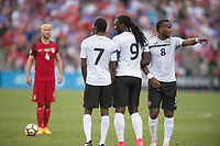 Commerce City, CO - Thursday June 08, 2017: Michael Bradley, T&T wall during a 2018 FIFA World Cup Qualifying Final Round match between the men's national teams of the United States (USA) and Trinidad and Tobago (TRI) at Dick's Sporting Goods Park.