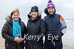 Enjoying a stroll in Ballyheigue beach on Sunday, l to r: Marianne and Lorna Marshall and Chris O'Mahoney.