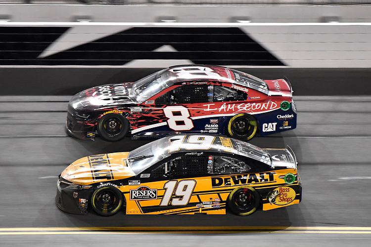 #19: Martin Truex Jr., Joe Gibbs Racing, Toyota Camry DeWalt #8: Tyler Reddick, Richard Childress Racing, Chevrolet