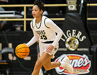 Jada Brown (35) of Bentonville brings ball up court at Tiger Arena, Bentonville, AR January 5, 2021 / Special to NWA Democrat-Gazette/ David Beach