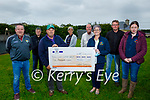 The committee of the Ardfert Vintage Tractor Run present a cheque for €5,000 to the Kerry Cancer Support Group presented in Ardfert on Friday. Front l to r: Martin Woulfe and Breda Dyland. Back l to r: John McElligott, Justin Horgan, Aileen and Brendan Griffin, Jermiah Clifford and Trish Kelly.