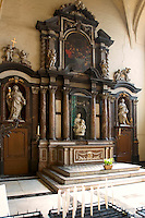 Small Madonna & Child by Michelangelo in Church of our lady in Brugge, Belgium