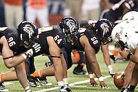 SAN ANTONIO, TX - NOVEMBER 19, 2011: The Minot State University Beavers vs. The University of Texas at San Antonio Roadrunners Football at the Alamodome. (Photo by Jeff Huehn)