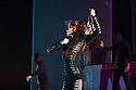 London, UK. 18.10.2013. Boy Blue Entertainment perform THE FIVE AND THE PROPHECY OF PRANA at the Barbican theatre. Dancers are: Michele 'Paleta' Rhyner, Bradley 'Bradz' Charles, Theo 'Godson' Oloyade, Kofi 'Klik' Mingo, Xena Gusthart, Vicky 'Skytilz' Mantey, Duwane Taylor, Kayla Lomas-Kirton, shaun Smith, Hakim Saber and Jumar Aben. Picture shows: Michele 'Paleta' Rhyner (Soo Lin). Photograph © Jane Hobson.